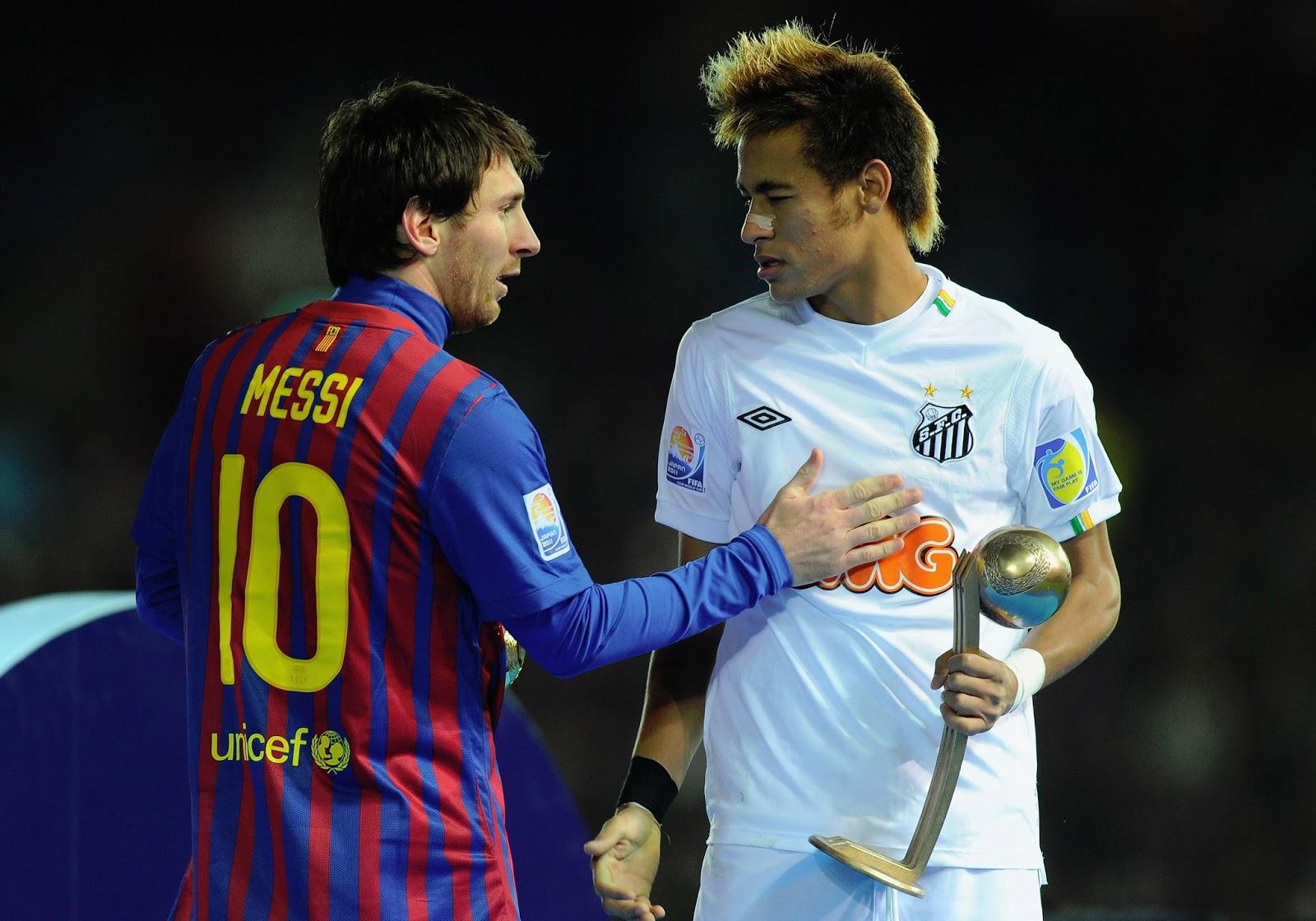 Lionel Messi Barcelona and Neymar Santos Wallpaper HD FULL HD 1600x1120