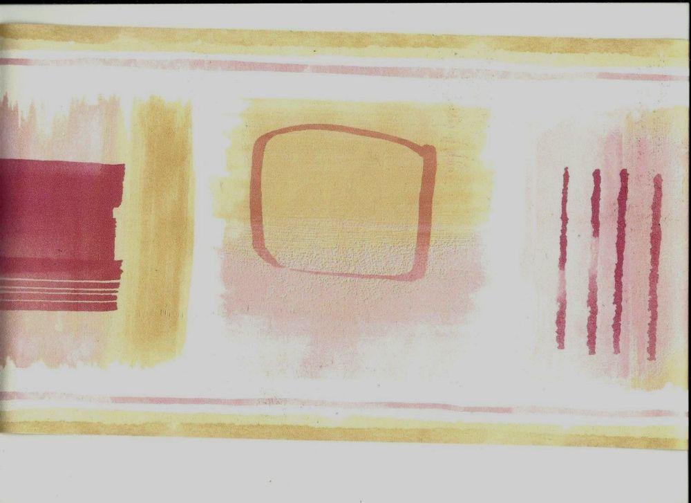 Pink Geometric Designs in Squares Wallpaper Border CT78156B eBay 1000x727