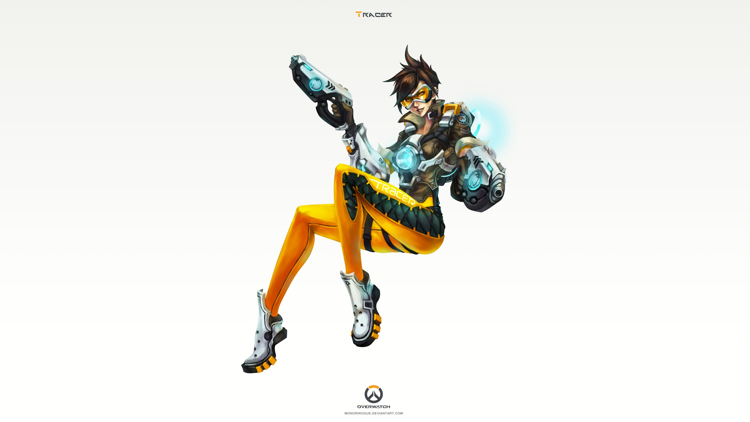 Tracer Overwatch Art 4K Wallpapers HD Wallpapers 2560x1440