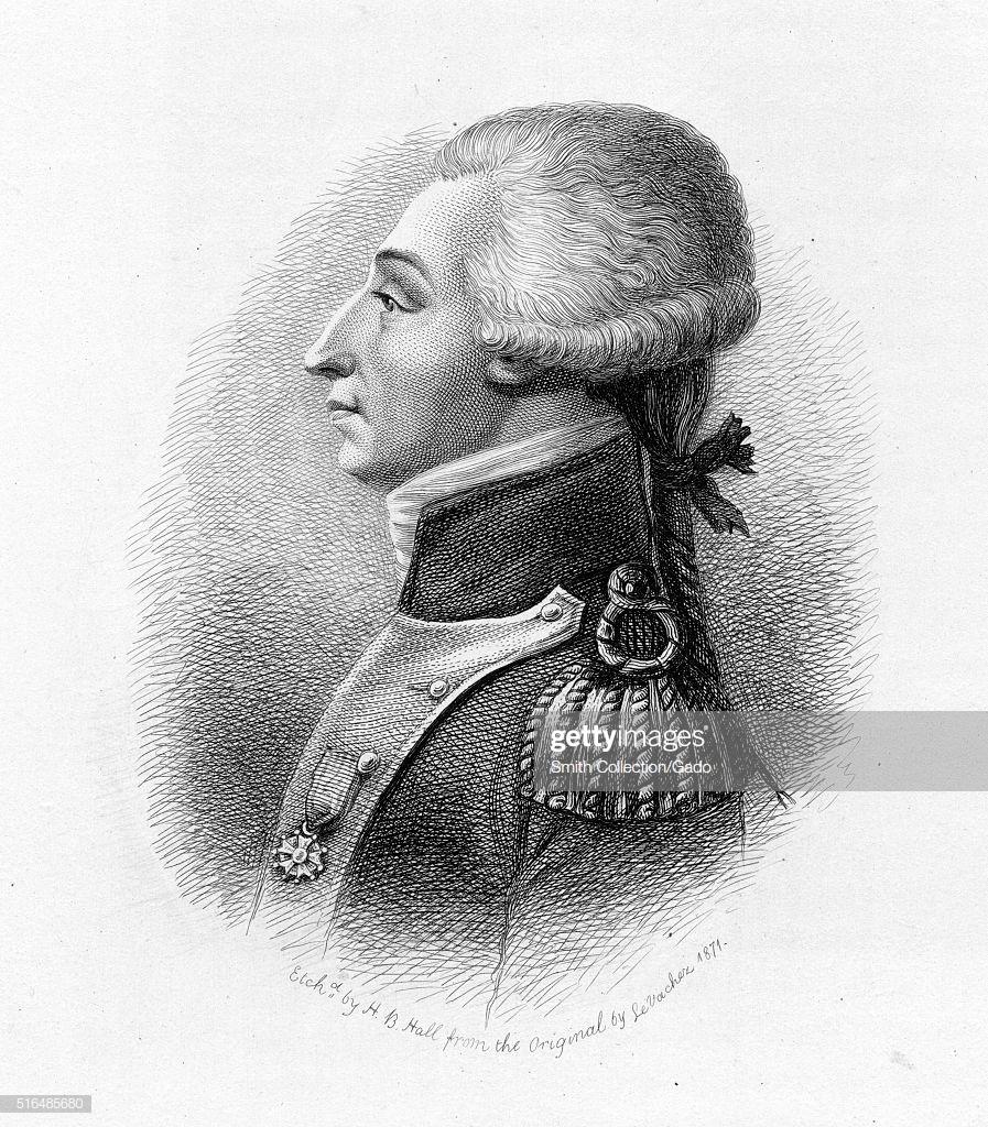 An engraving from a portrait of Gilbert du Motier Marquis de 897x1024
