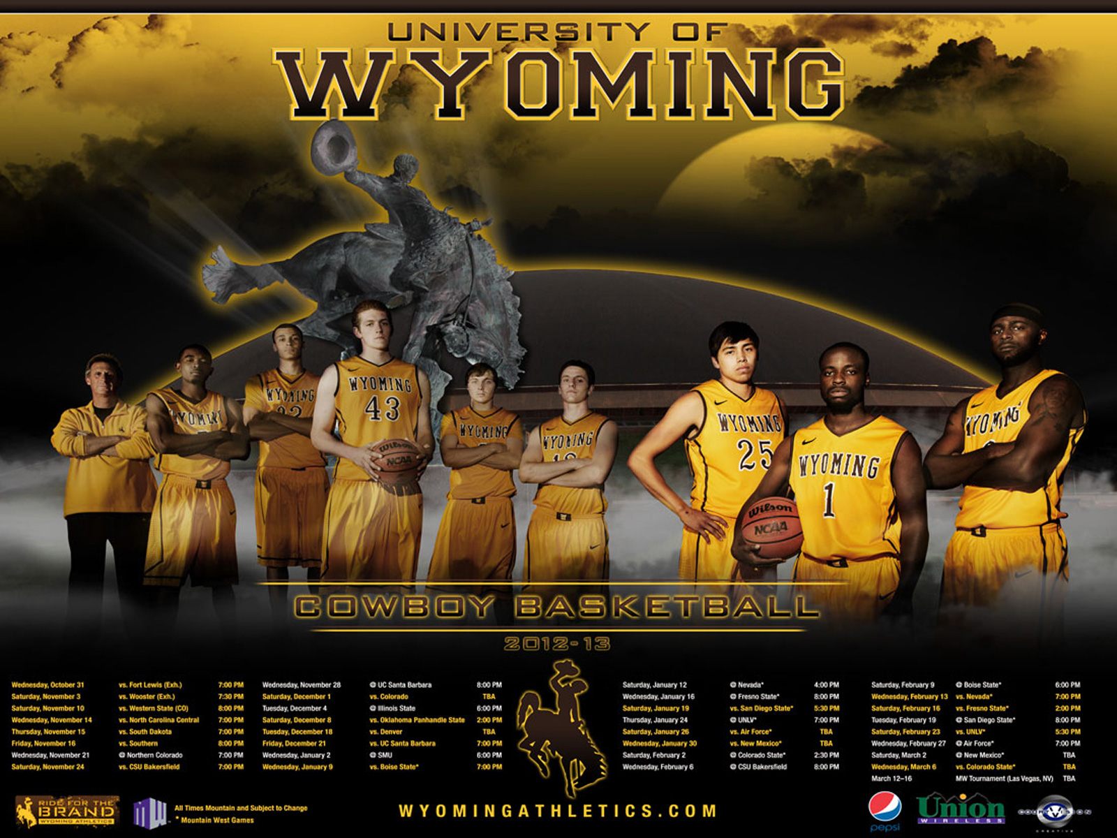 University of Wyoming Official Athletic Site   Athletics 1600x1200