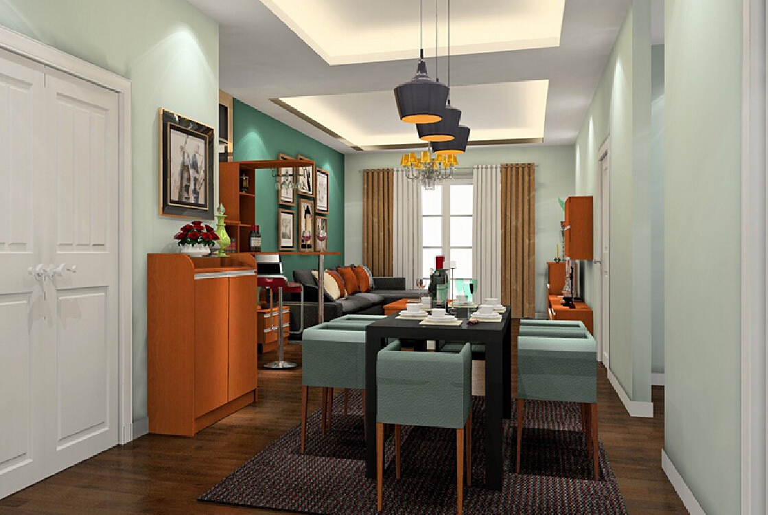3d canada dining room pendant lights 3d dining room with trumpet 1119x750