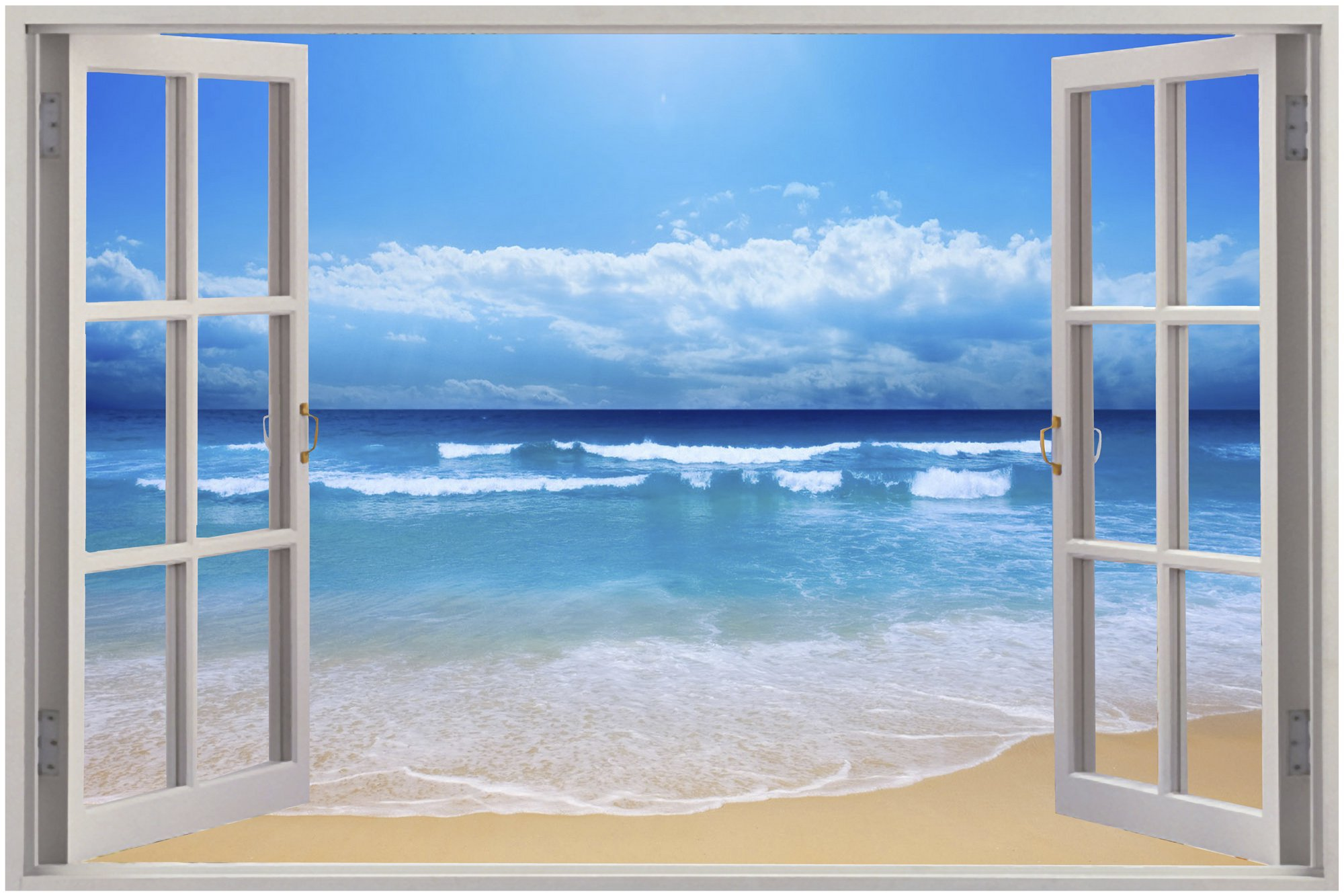 Exotic Beach View Wall Stickers Film Mural Art Decal Wallpaper eBay 2000x1333
