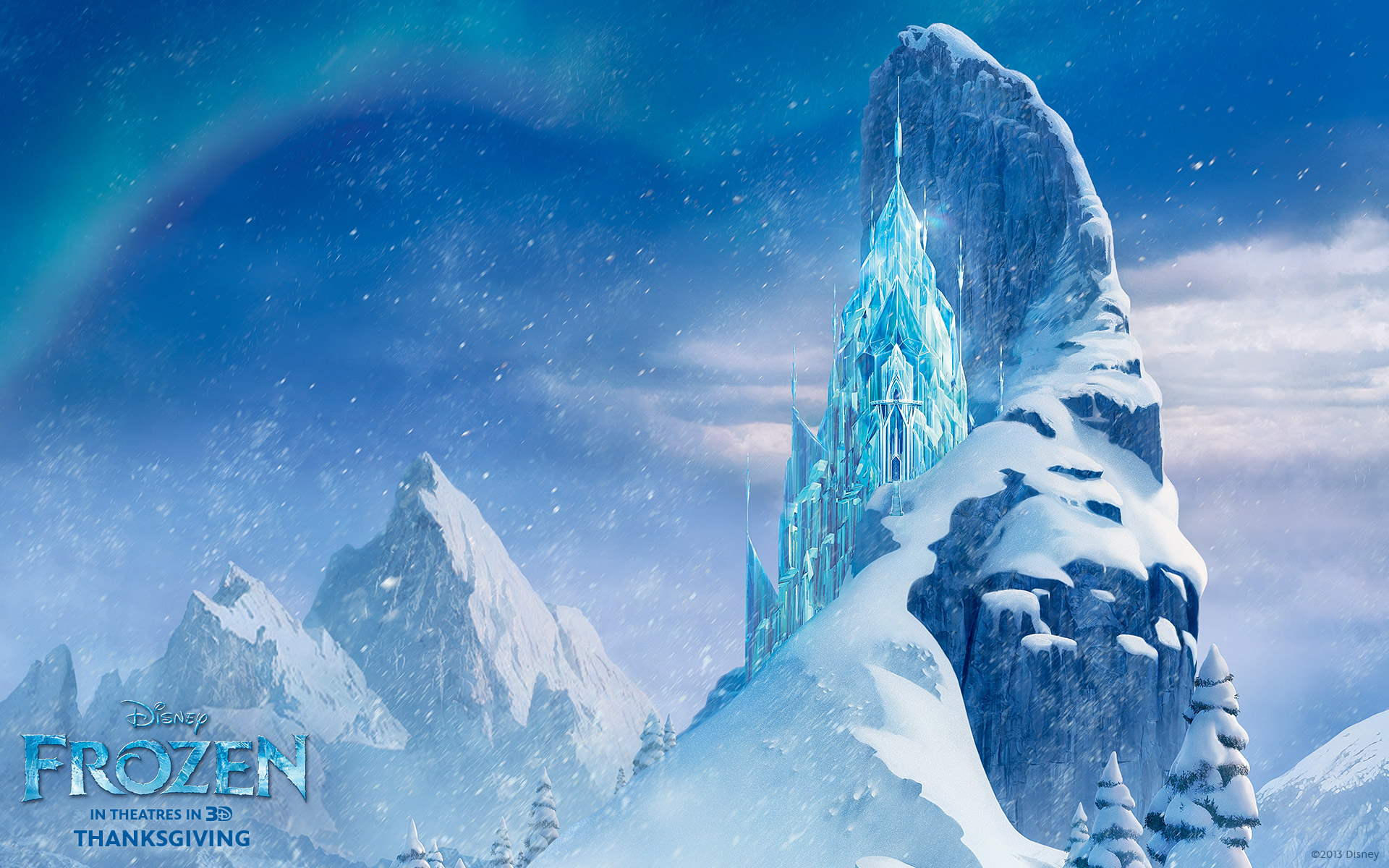 Elsas ice castle from the Disney CG animated movie Frozen Disneys 1920x1200