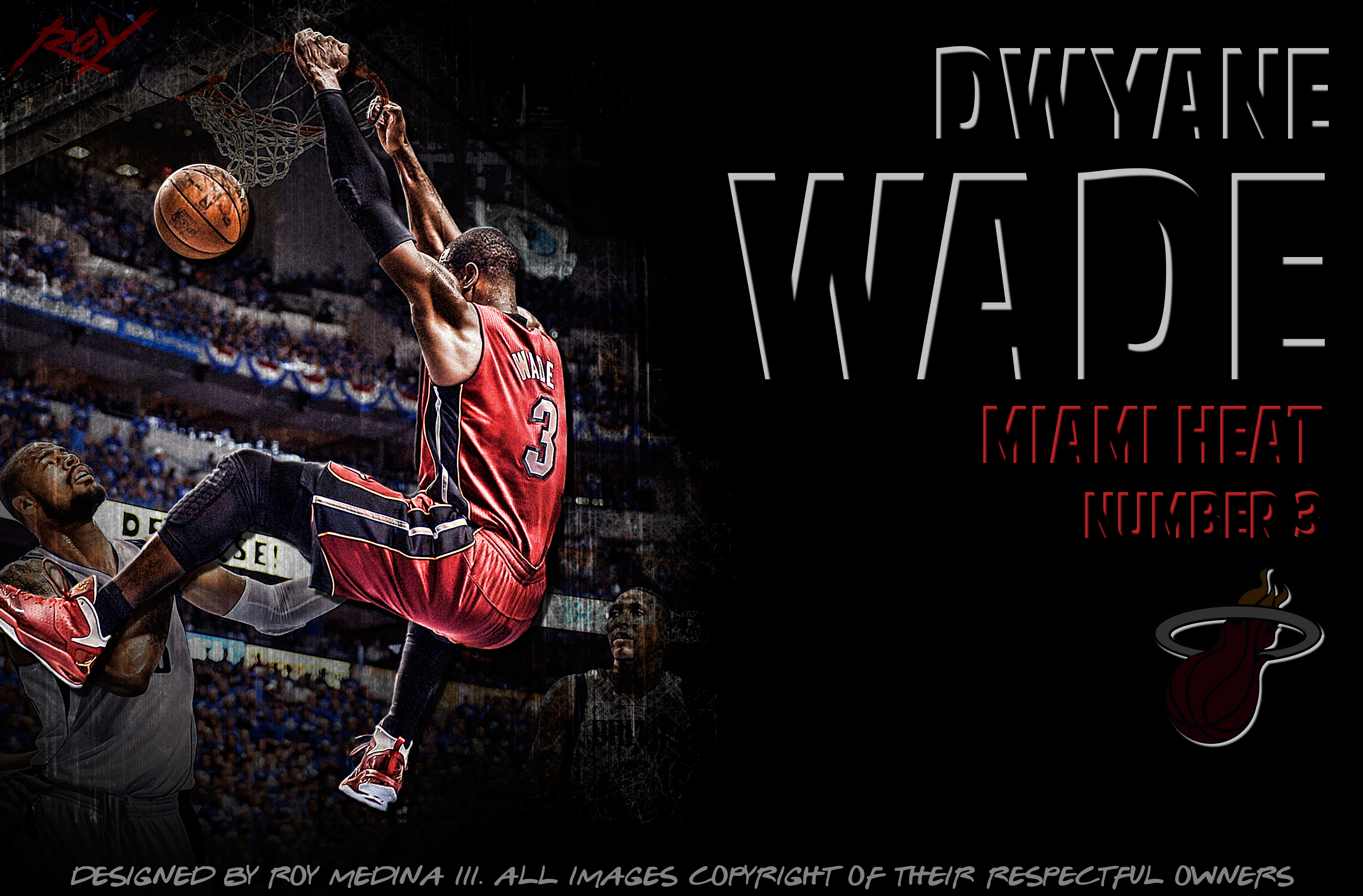 Dwyane Wade Basketball 3600x2367