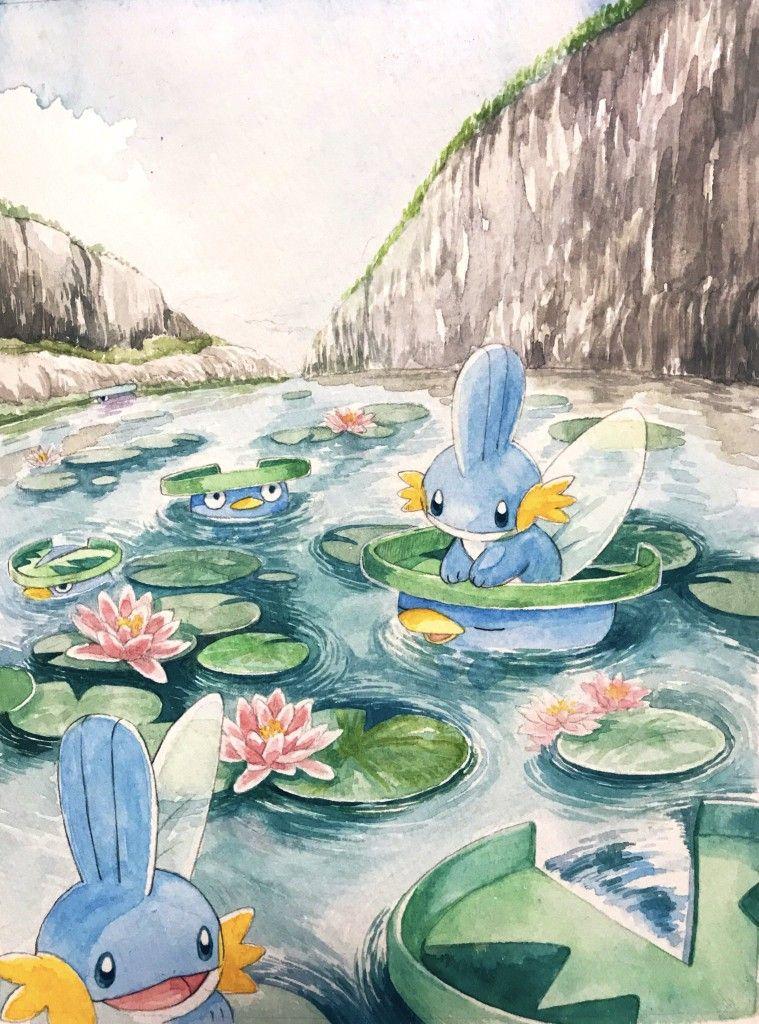 Lotad and Mudkip   Pokmon Judy Nick Pokemon Mudkip Cute 759x1024