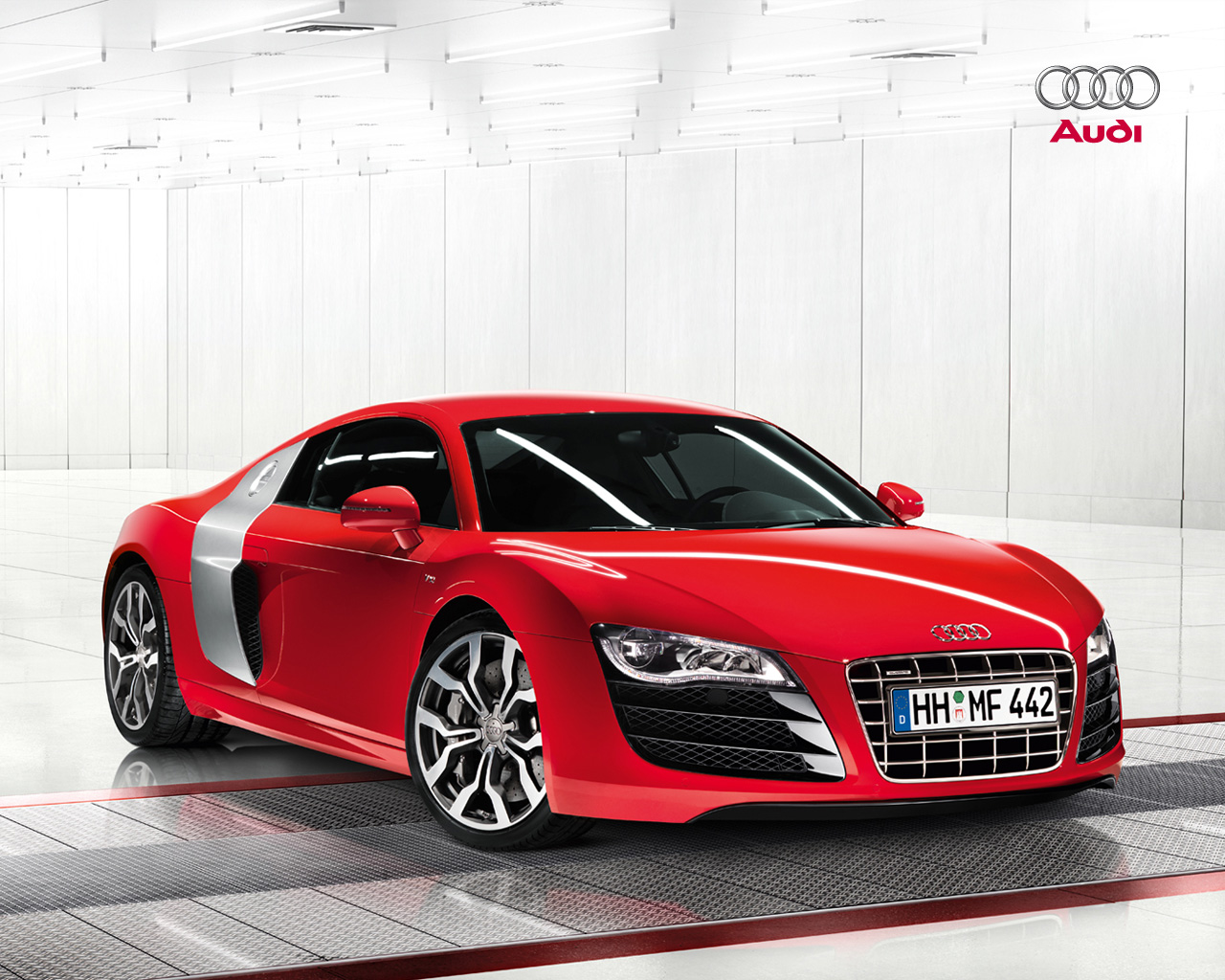 Wallpapers Audi R8 V10 52 FSI Automobile Box 1280x1024