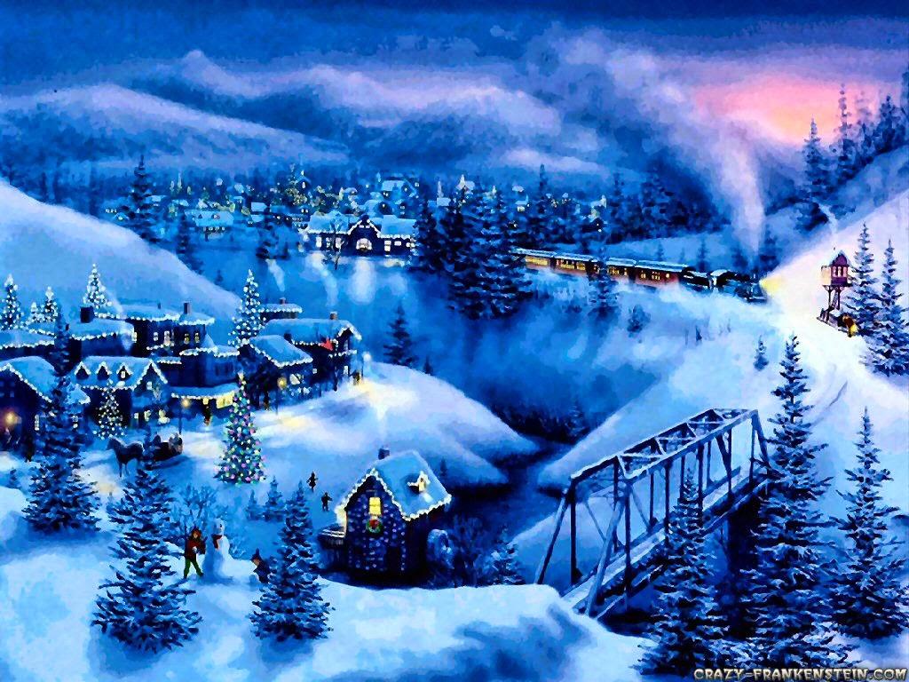 Bestcrossstitch Christmas village 1024x768