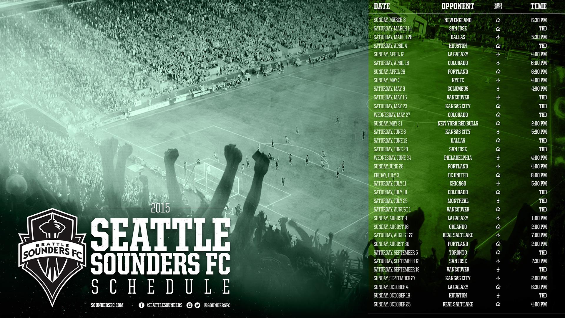Sounders FC 2015 Schedule | Seattle Sounders FC