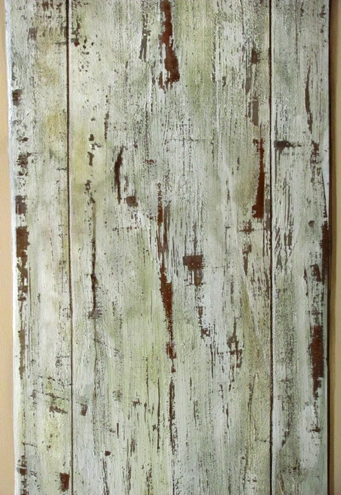 Distressed Wood Wallpaper Distressed faux wood panel by 495x717