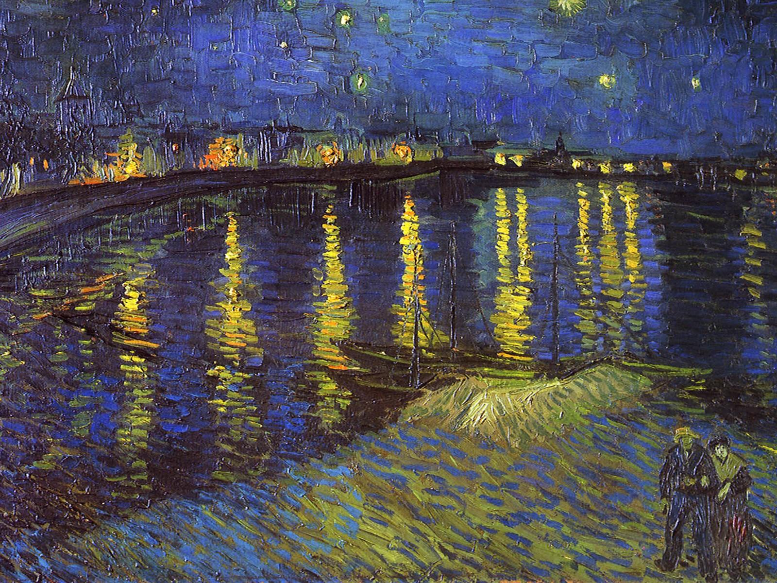 Impressionism Wallpaper Van gogh impressionism 1600x1200