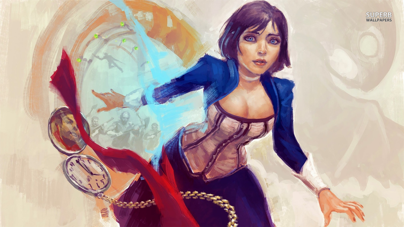 Bioshock Infinite Elizabeth Wallpaper Hdbbcs Doctor Who Whovians 1366x768