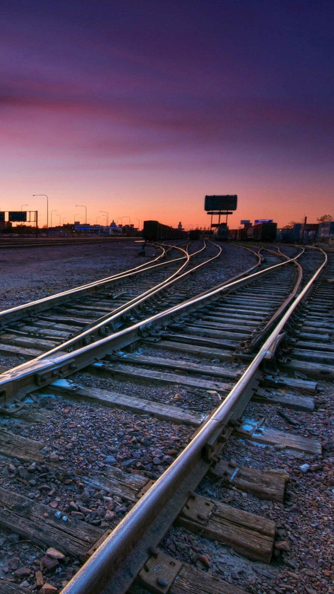 Hd train tracks wallpaper wallpapersafari Smartphone wallpaper hd