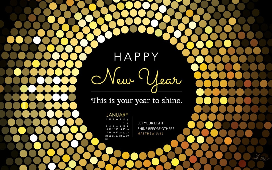 January 2016   Year to Shine Desktop Calendar  January Wallpaper 1100x687