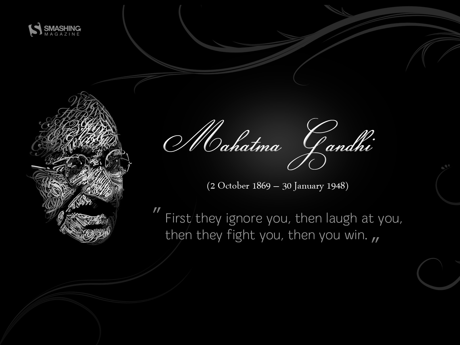 MG msg   Ghandi Wallpaper 25851675 1600x1200