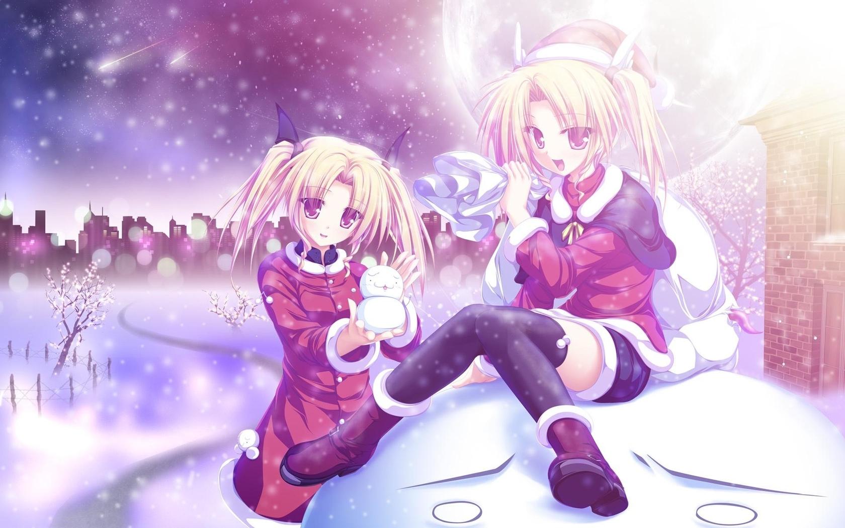Winter anime Widescreen Wallpaper   8749 1680x1050