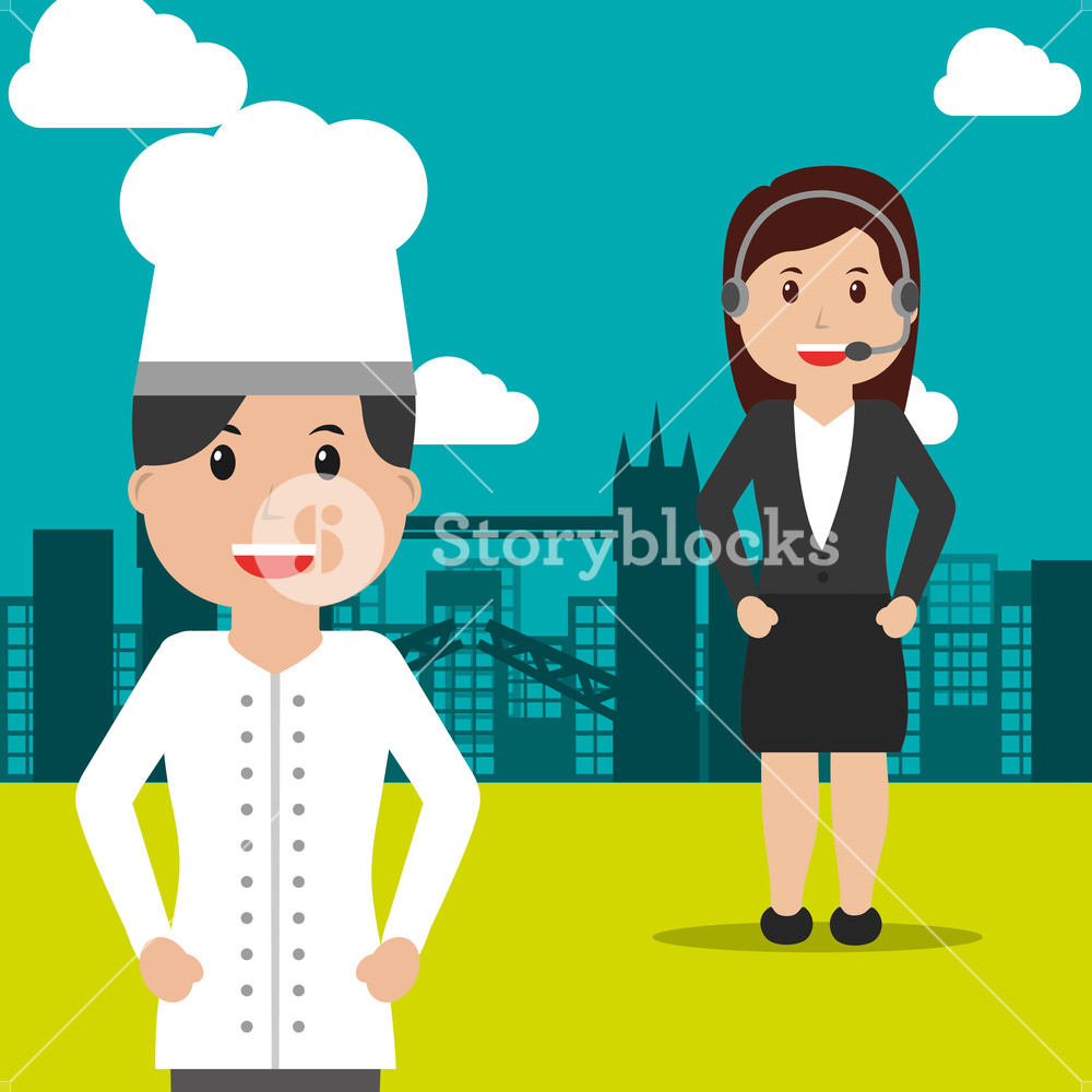 chef and operator female people workers profession occupation 1000x1000