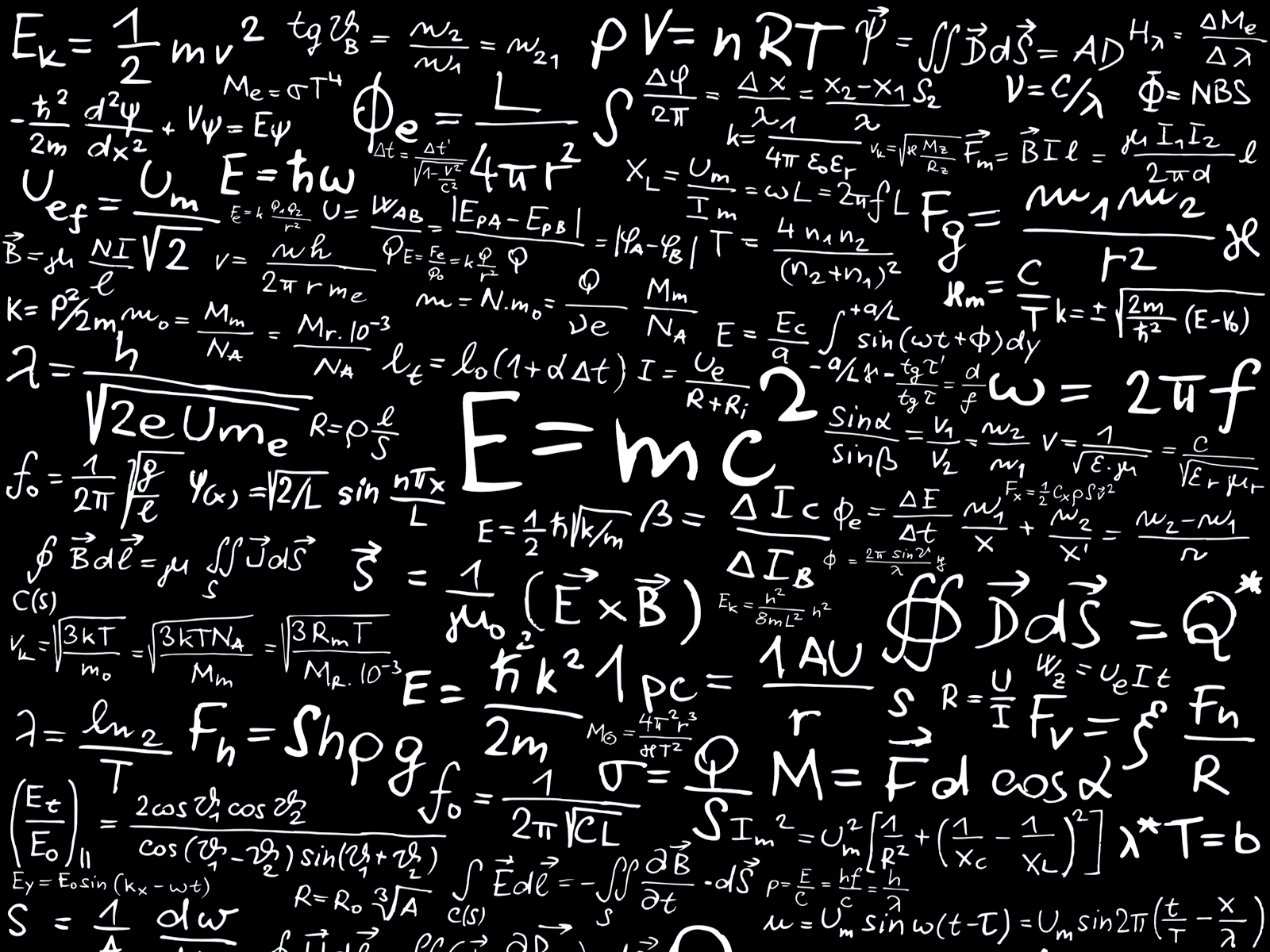 physics mathematics physics formula physics Math wallpaper 1600x1200