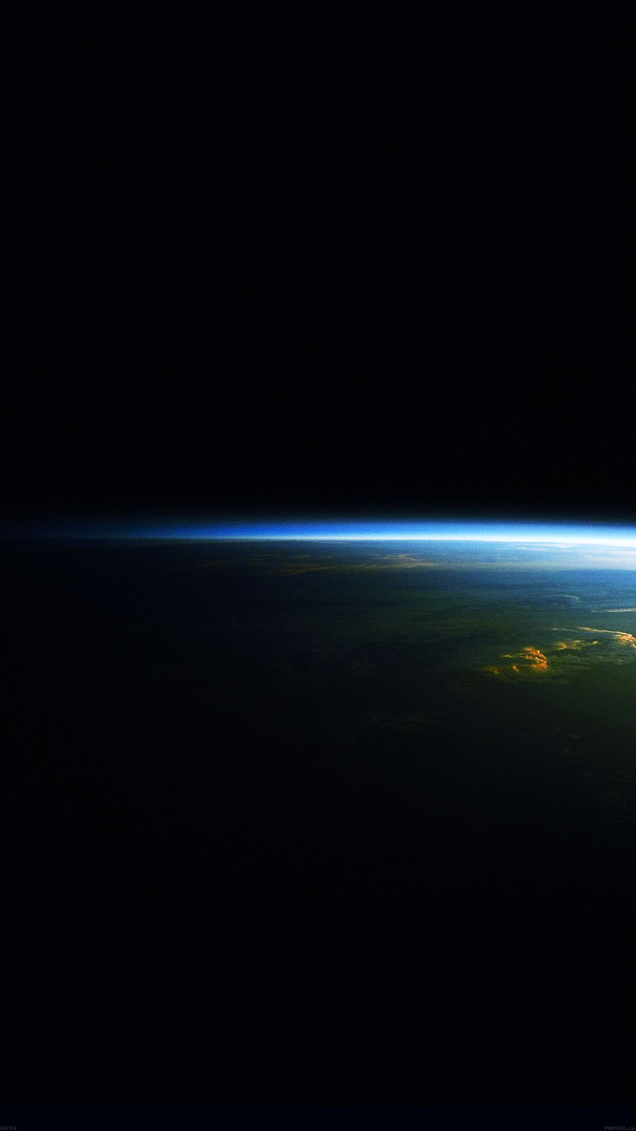 Earth At Night Horizon Space Android Wallpaper 1242x2208