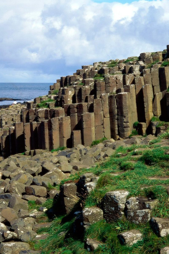 Stone Coast Northern Ireland Desktop wallpapers 640x960 640x960