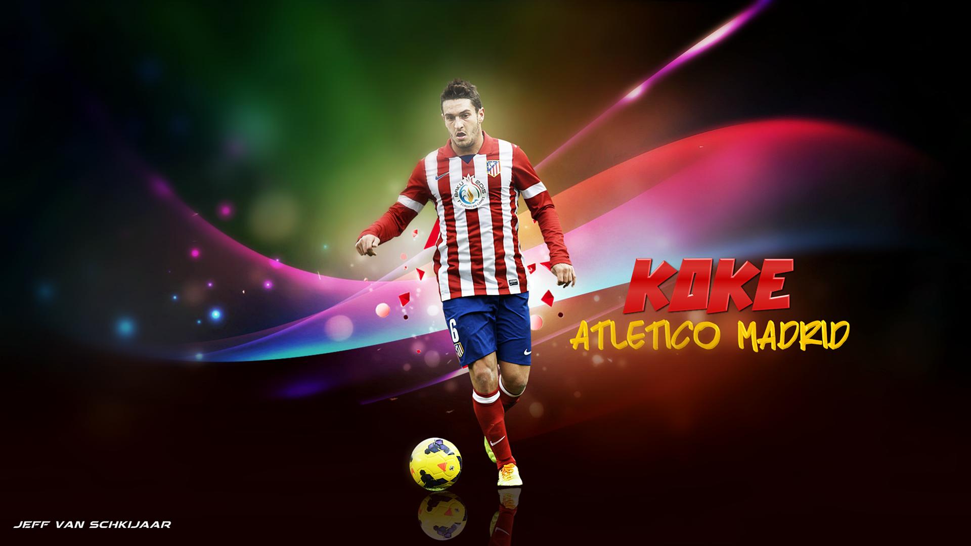 Koke Atletico Madrid Wallpaper 2014 by jeffery10 1920x1080