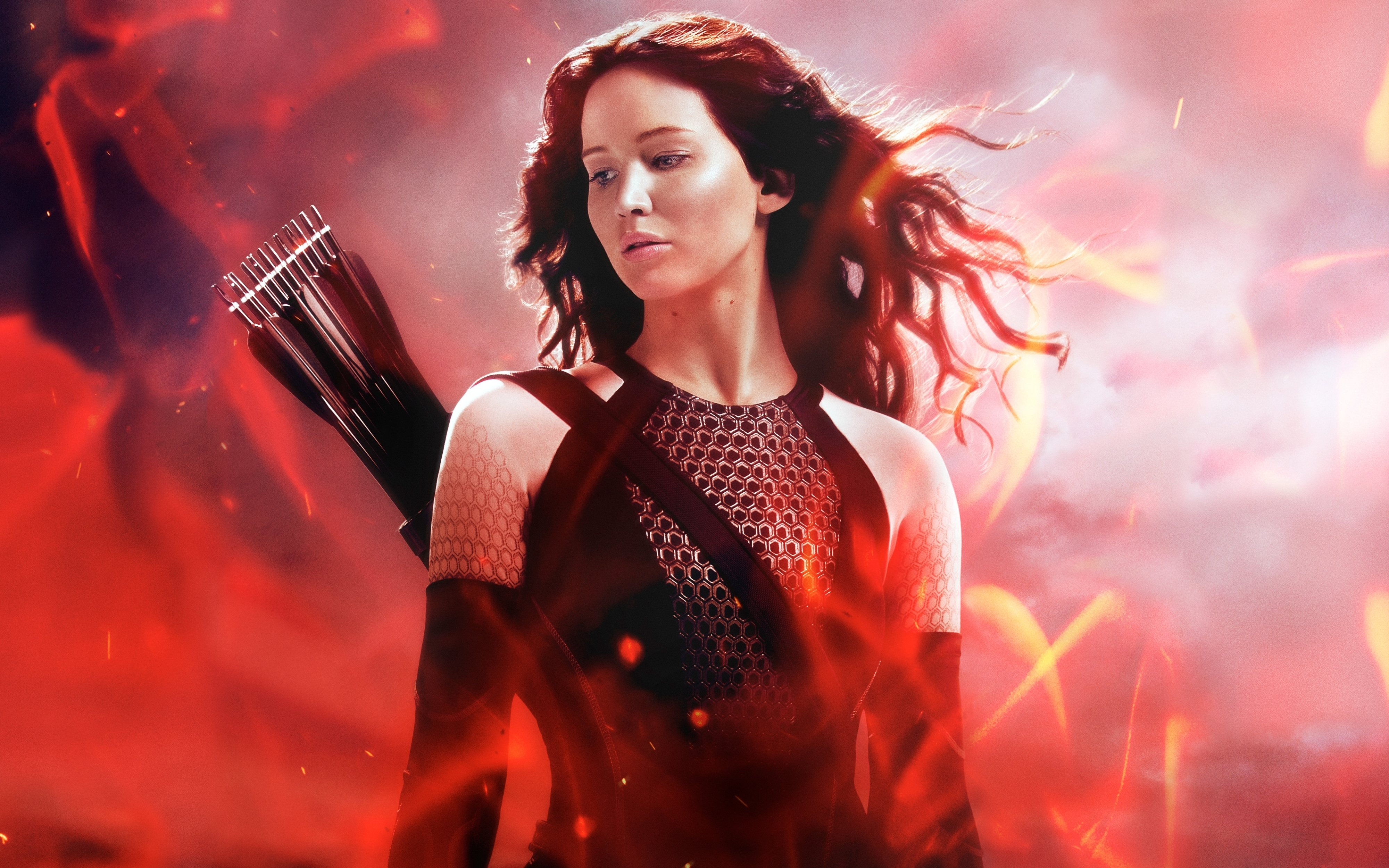 Katniss in The Hunger Games Catching Fire 4K wallpaper 4000x2500