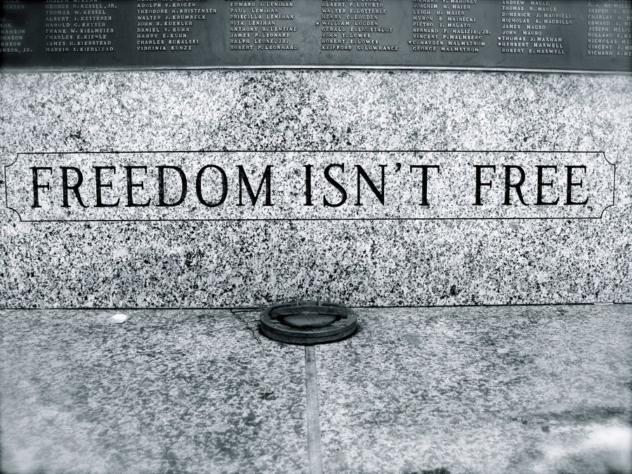 Freedom isn  t Free by oO2bored2careOojpgfreedom20isn27t20free 900x675