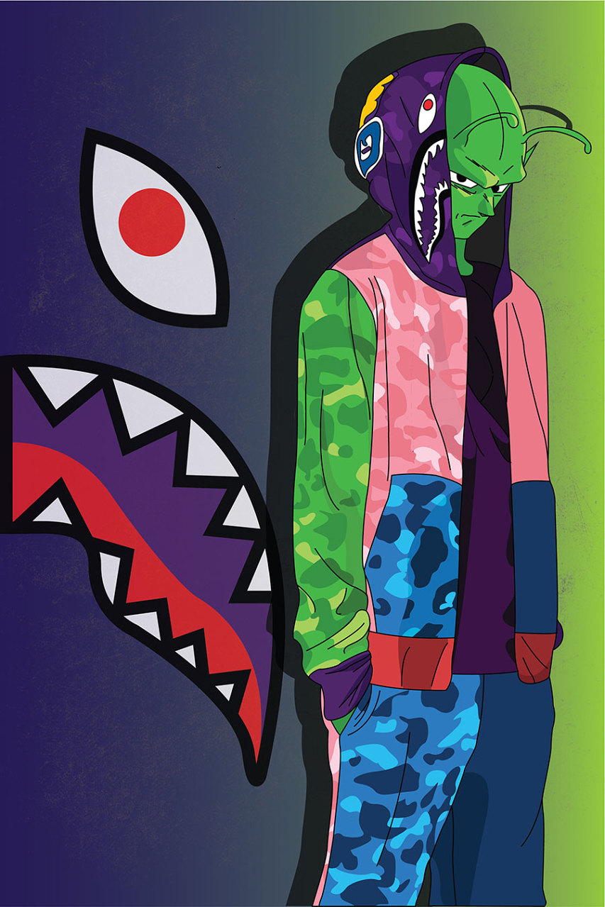 Cartoon Characters Hood : Bape shark wallpaper wallpapersafari