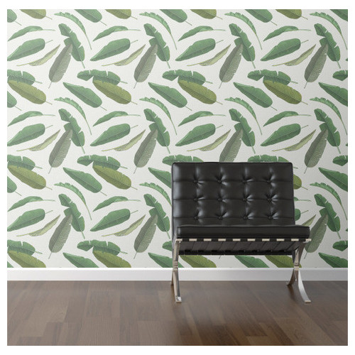 Walls Need Love Banana Leaf Removable 8 x 20 Botanical Wallpaper 500x500