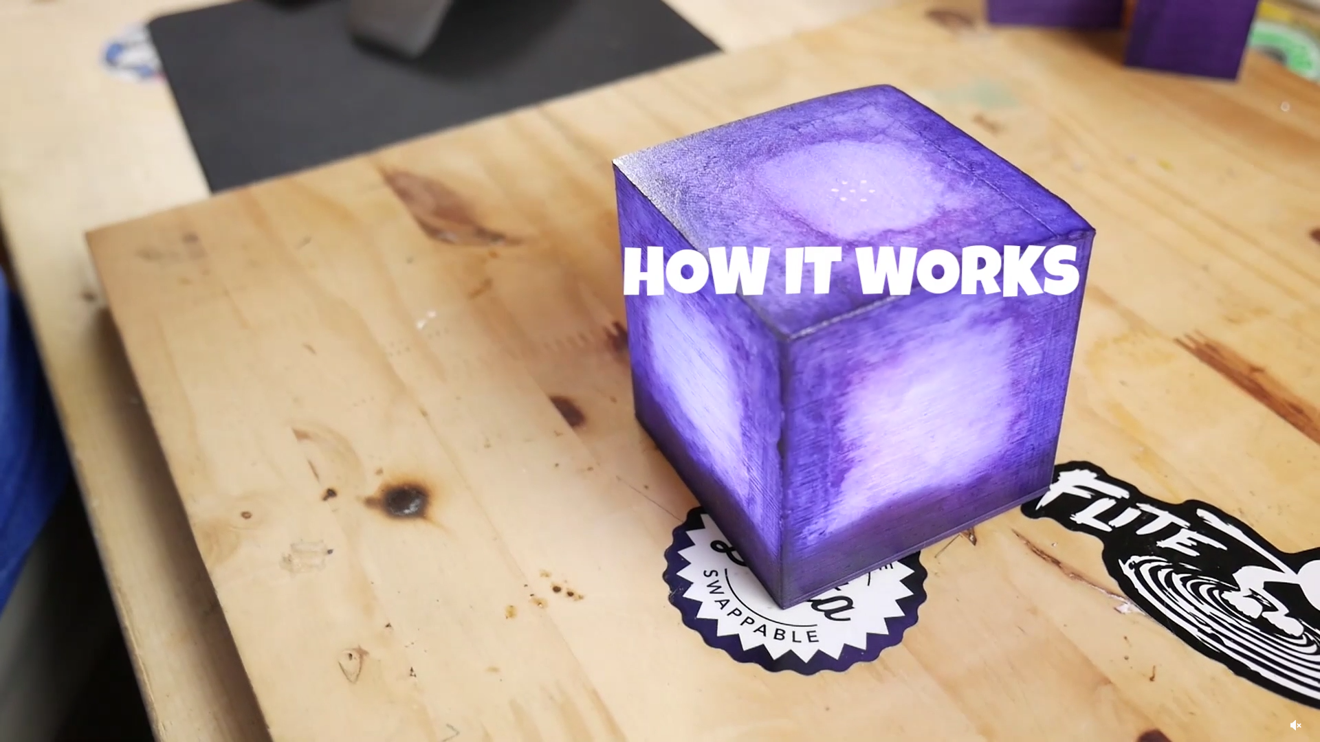 DIY Desktop Fortnite Battle Royale Cube Lights Up Dislikes Being 1920x1080