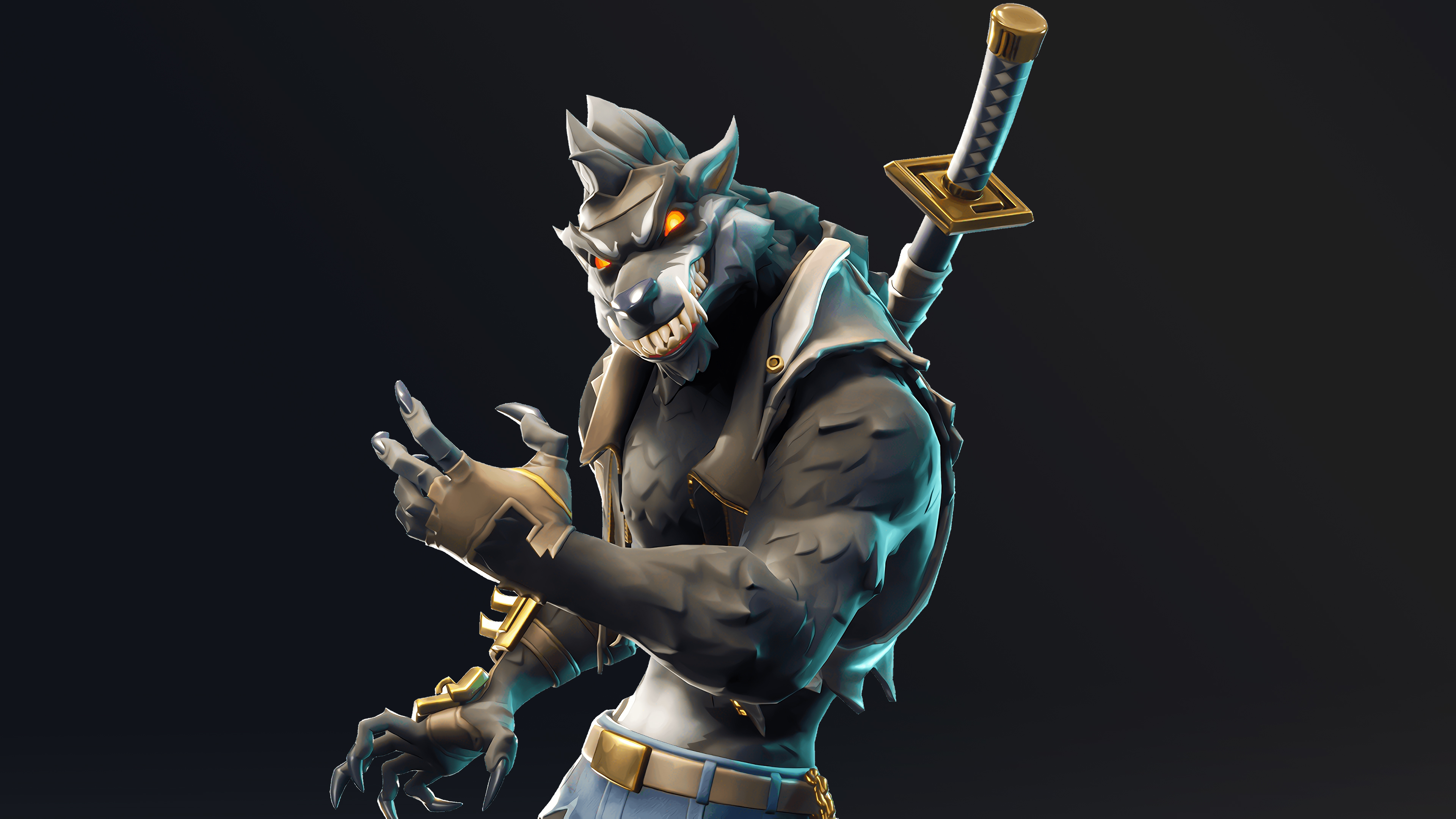 Dire Werewolf Fortnite Battle Royale Season 6 Skin 4286 3840x2160