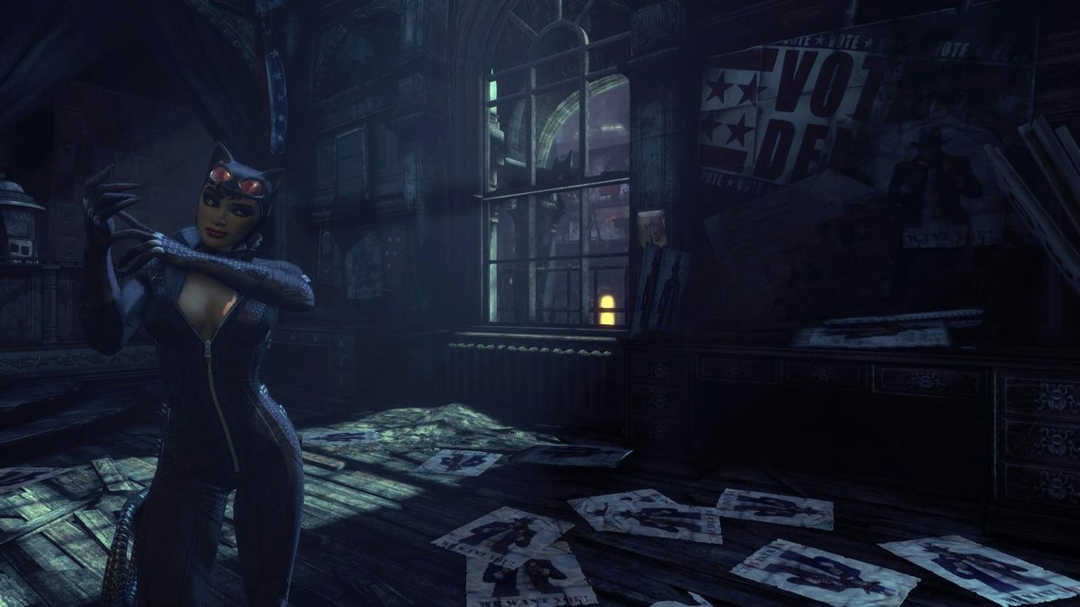 Batman Arkham City Catwoman Wallpaper Wallpapersafari