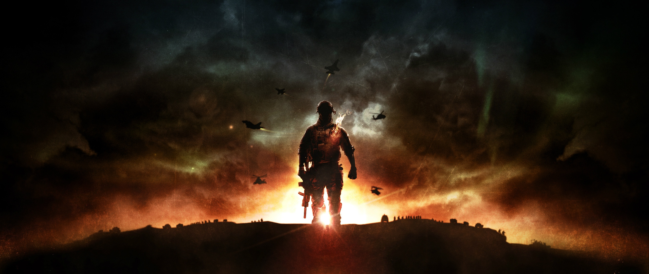 Download Wallpaper 2560x1080 battlefield 4 game explosion ea 2560x1080