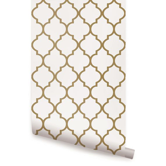 gold peel stick fabric wallpaper This re positionable wallpaper 570x570