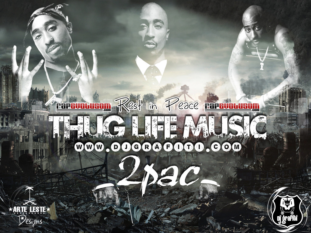 2pac Wallpaper Thug Life 99558 High Definition Wallpapers Suwall 1024x768
