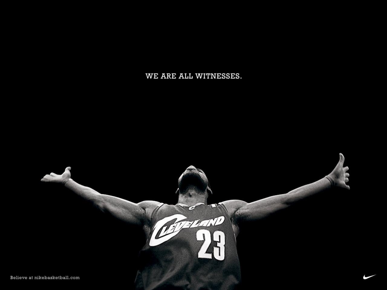 Fondo de pantalla de LeBron James y Nike 1280x960