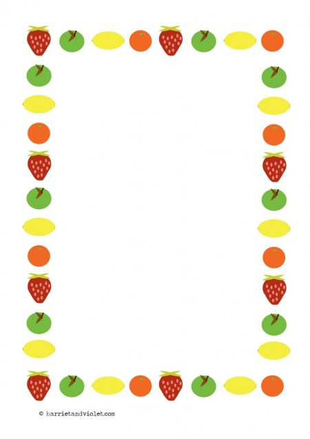 Fruit Page Border Fruit page border paper a4 450x636