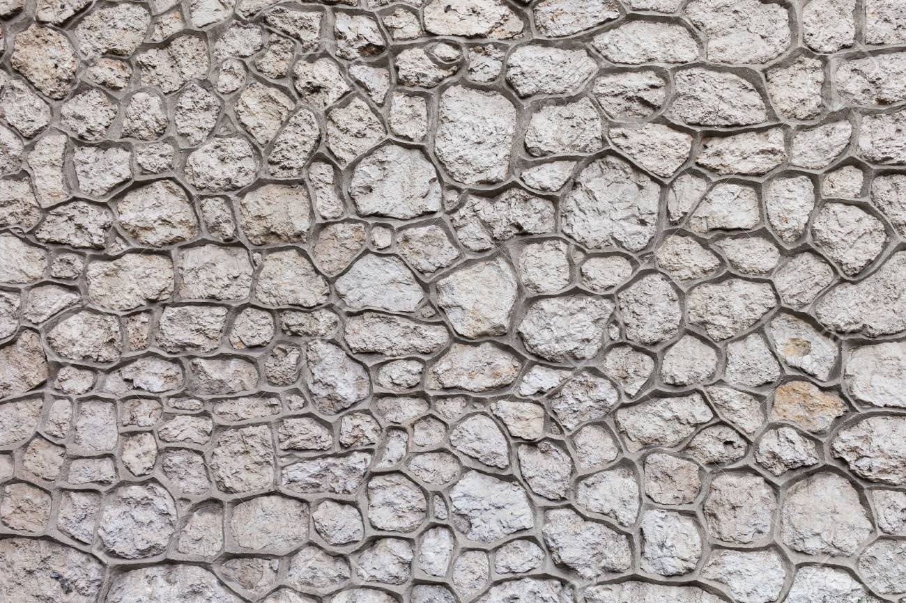 Stone Wall Background Or Texture Quaility Stonework With Large 1300x866