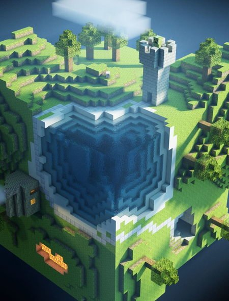 Minecraft World Wallpaper for Apple iPad Mini 450x590