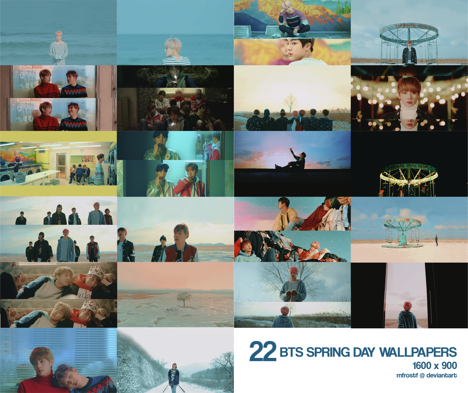 BTS   Spring Day Desktop Wallpapers by mfrostf 1600x1344