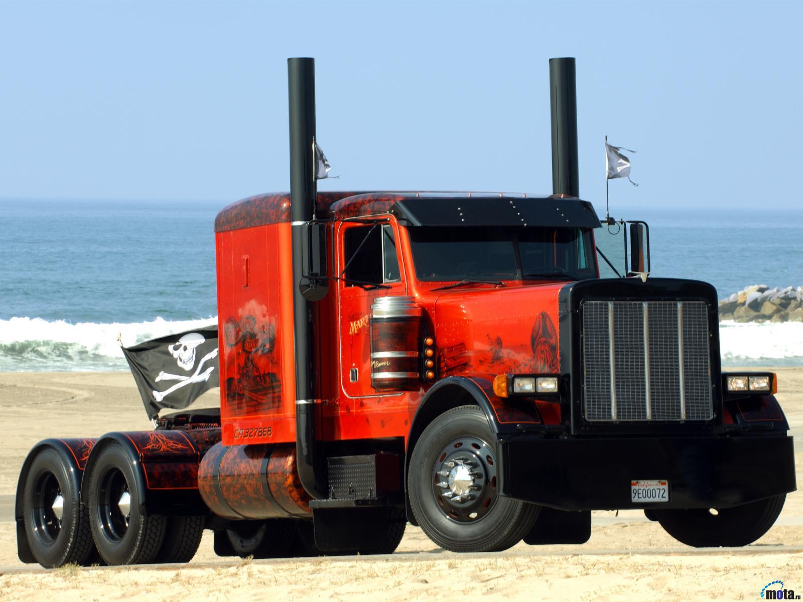 Peterbilt semi trucks tractor rigs wallpaper background 1600x1200