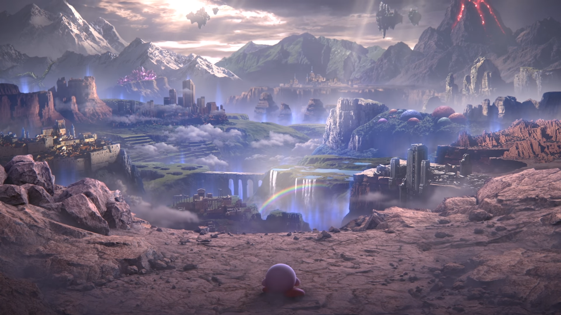 That Kirby Scene from the World of Light trailer but as a 1920x1080
