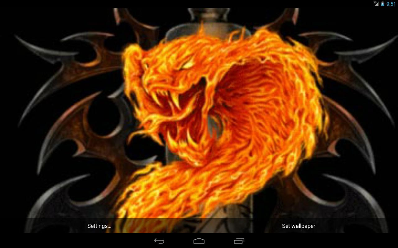 Fire snake Live Wallpaper 1280x800