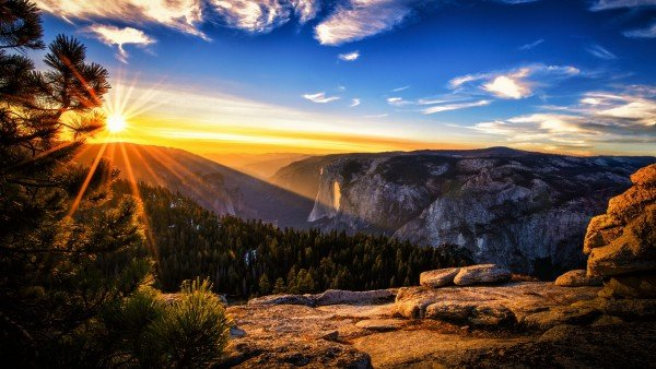 Scenic Mountain Sunset   3D Wallpapers UK   3D Backgrounds For all 600x338