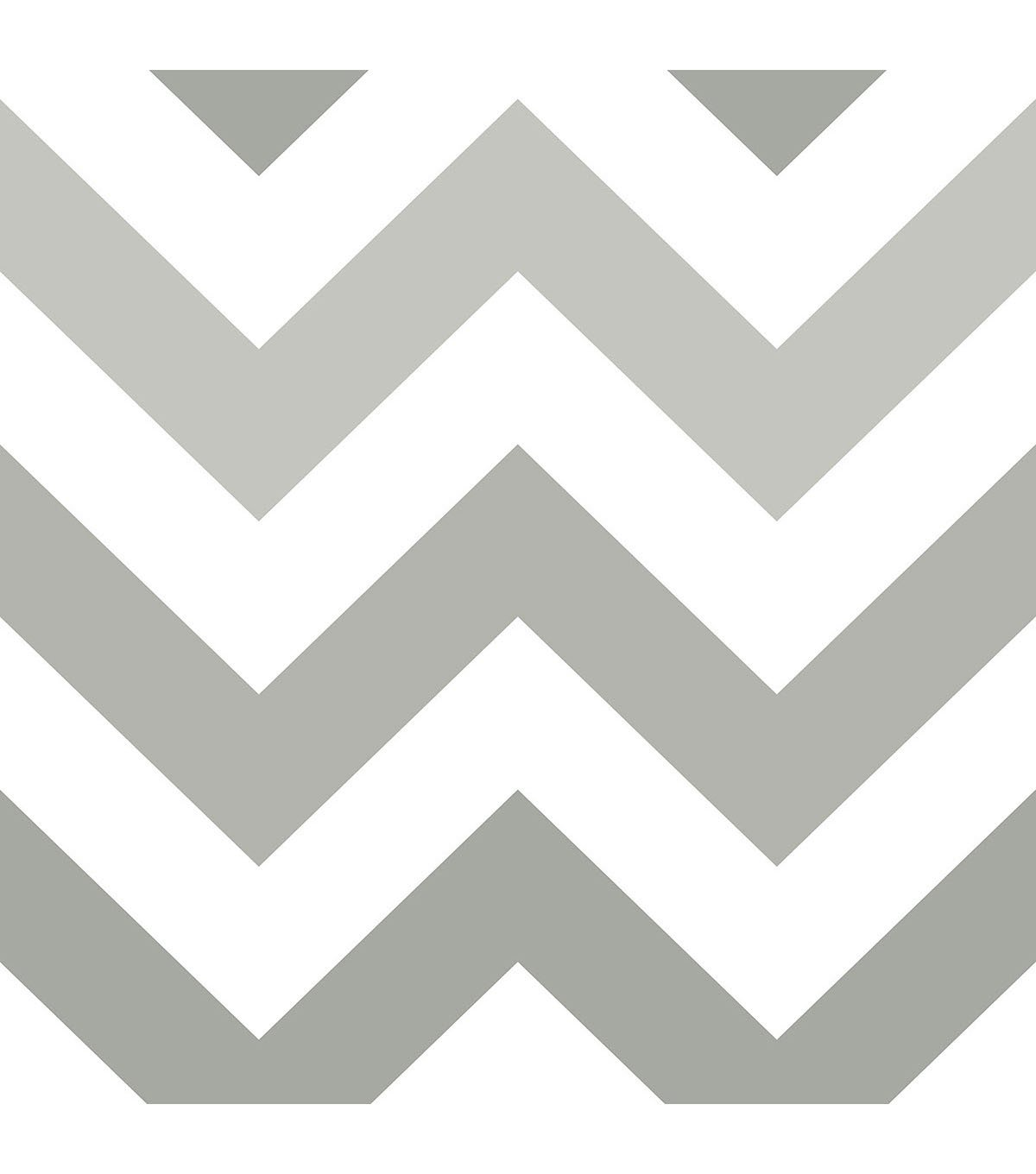 WallPops NuWallpaper Peel Stick Wallpaper Gray Zig Zag JOANN 1200x1360