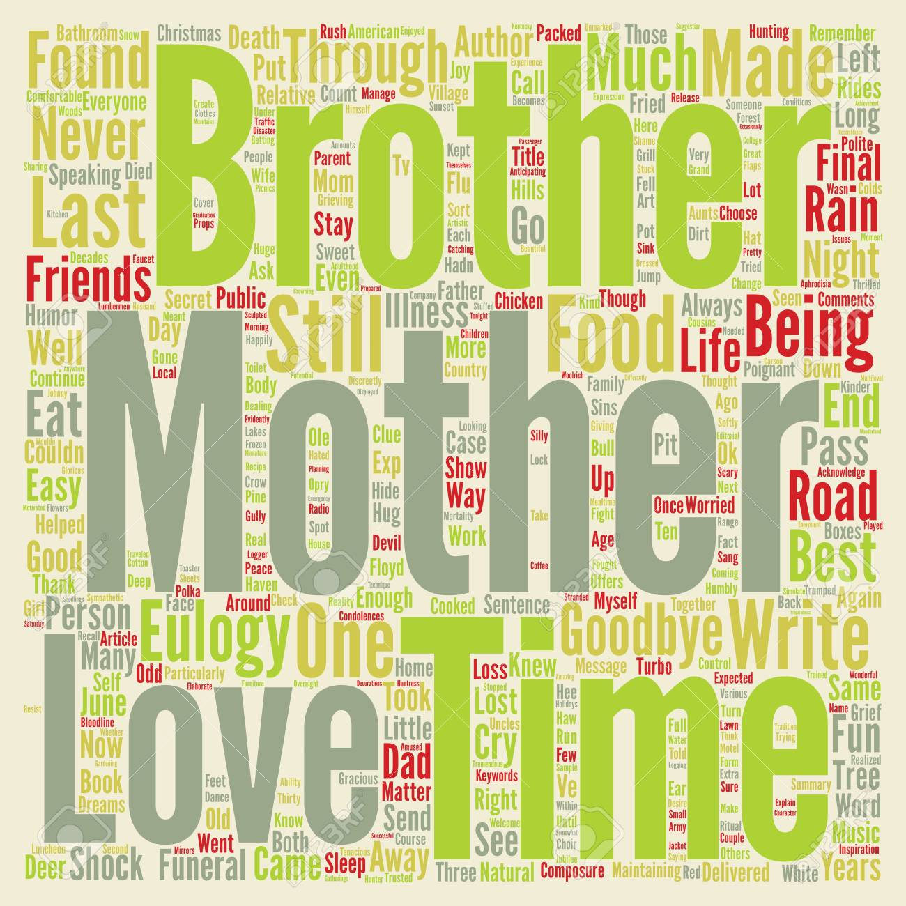 Choose Life A Eulogy For My Mother Text Background Word Cloud 1300x1300