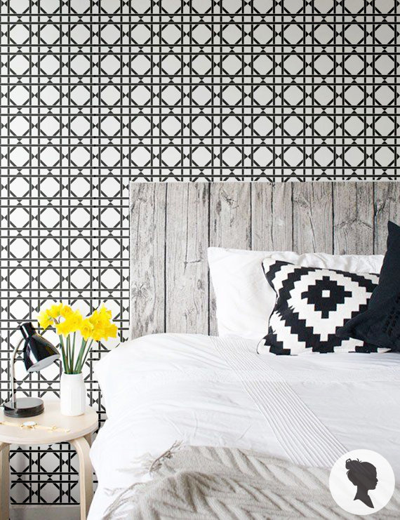 Peel and Stick Lattice Pattern Removable Wallpaper by Livettes 570x741