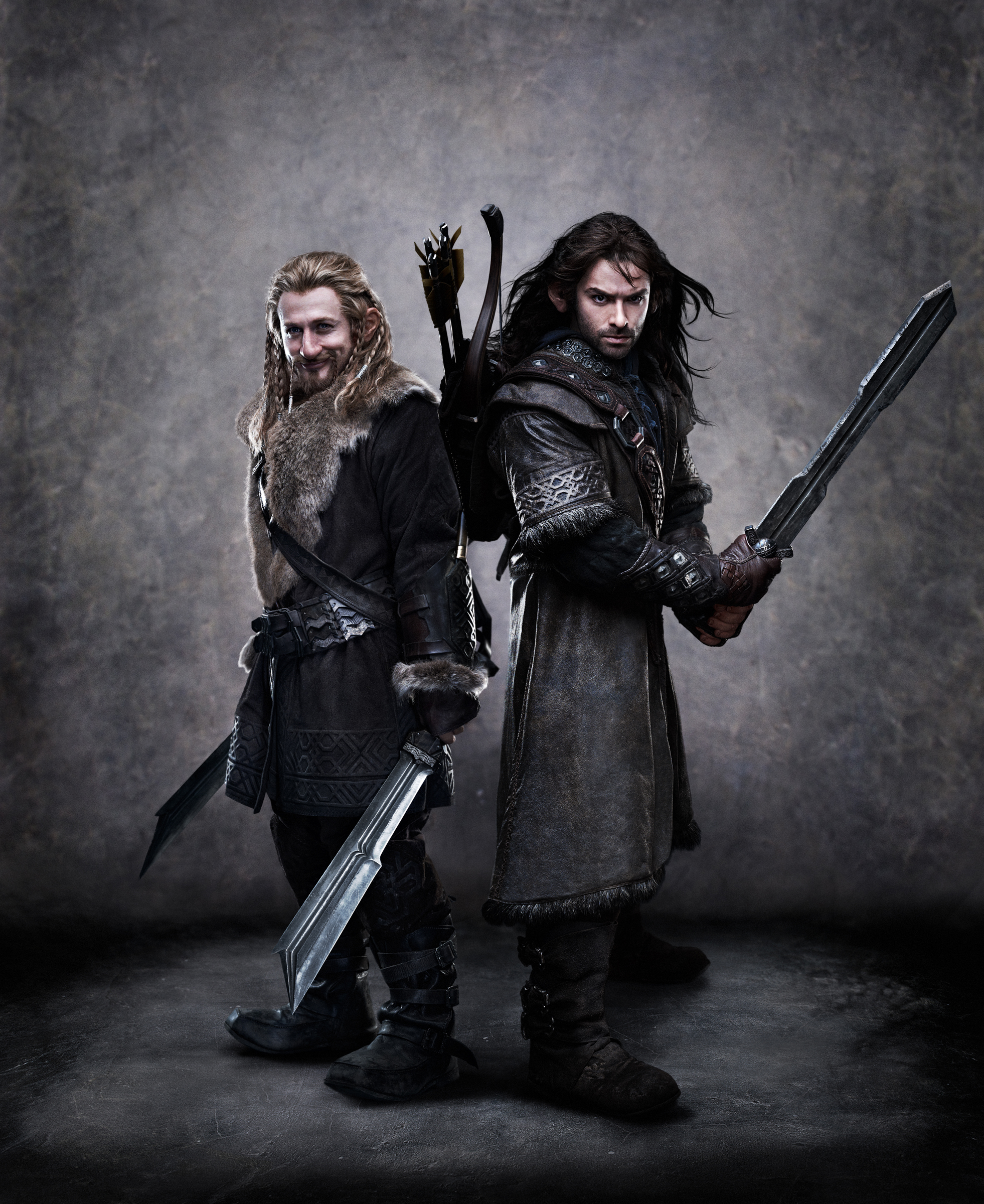 dwarfs The Hobbit brothers Kili Fili Wallpapers 1962x2400