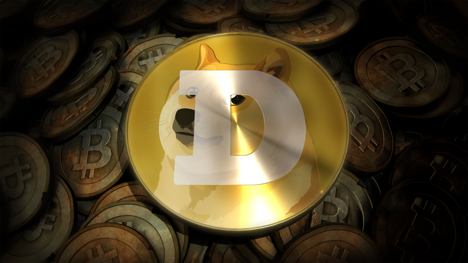 3D Dogecoin Background   Doge Wallpaper 1920x1080 29089 1920x1080