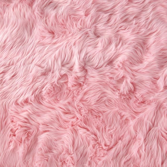 Faux Fur Luxury Shag Baby Pink from fabricdotcom This super soft high 700x700